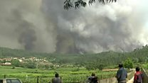 Wildfires rage in Portugal