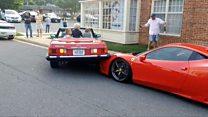 Barbeiragem mais cara do mundo? Motorista nos EUA sobe em Ferrari de US$ 920 mil ao dar ré