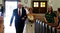 'I walked my heart donor's daughter down the aisle'