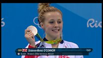 Siobhan Marie O'Connor takes silver in the pool at the Rio Olympics