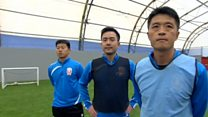 Chinese football coaches train in UK