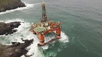 'No trace of oil' on coast from stranded rig