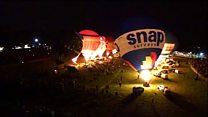 Balloon fiesta's night glow in timelapse