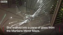 Girl scarred by theme park mirror smash