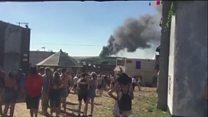 Fire at Boomtown Fair music festival
