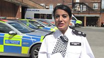 Asian policewoman sets example