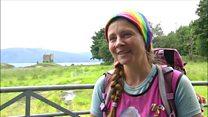 Grieving mum's coast walk reaches halfway