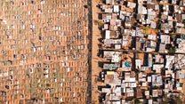 Неравенство в ЮАР на фото с беспилотника