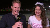 El genial momento en que una despedida de soltera interrumpe una transmición en vivo de la BBC en las Olimpiadas de Río