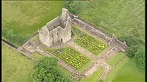 Aerial footage of Tully Castle in Fermanagh