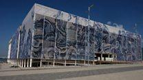 【リオ五輪】青い荒波が彩る建物 その意図は