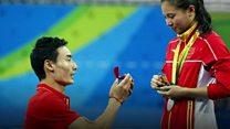 リオ五輪表彰式でプロポーズ 中国飛び込み選手