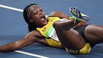 En 60 segundos: la jamaiquina Elaine Thompson gana oro en los 200m y Brasil se impone a Honduras por 6-0 en fútbol