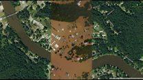 Imágenes de Luisiana antes y después de las inundaciones, una de las peores en EE.UU. en años recientes