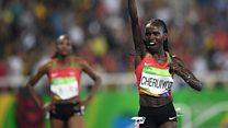 Cheruiyot breaks Olympic record in women's 5000m