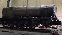 The GWR locomotive starting a new life in a Weston-super-Mare bus depot