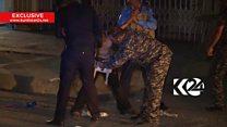 El crítico momento en el que la policía de Irak le quita un cinturón explosivo a un niño de 12 años en Kirkuk