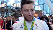 Scotland's Team GB athletes welcomed at Heathrow Airport