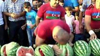 Арбузный фестиваль в Азербайджане требует подхода с головой