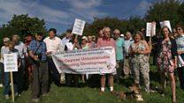 Protest against Tom's Field housing development