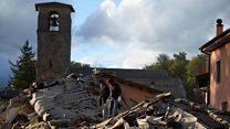 Eyewitness describes Italy earthquake 'panic'