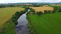 Britain's longest river filmed from sky
