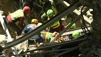 Man pulled from rubble after nine hours