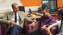 Prince William comforted my son over his mother's death