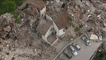 Drone footage of destroyed Italian town