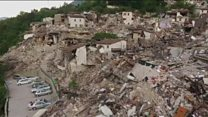 Разрушенные города в Италии: съемка с воздуха