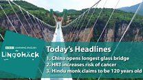 China inaugura ponte de vidro sobre abismo de 300 m