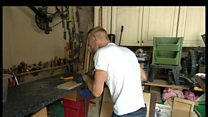 Paralympic triathlete makes his own prosthetic attachments