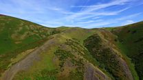 Carding Mill Valley from the air