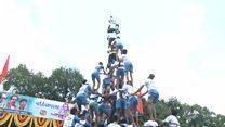 Inde : les pyramides humaines de Mumbai