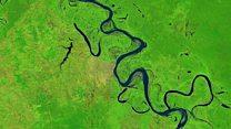 El movimiento de los ríos en el Amazonas
