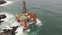 Grounded rig debris found on beach