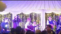 Ed Sheeran and Johnny McDaid entertain wedding guests