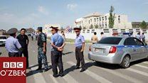 Бишкекдаги худкушлик ҳужуми саҳнаси