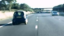 Wrong way M5 driver caught on dashcam