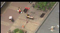 Aerial view of Harlow murder scene