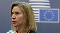 Federica Mogherini, la chef de la diplomatie européenne, demande la publication des résultats par bureau de vote.