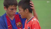 """Игроки детской команды """"Барселоны"""" утешили проигравших японцев"""