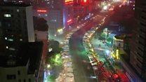 """""""Ночь длинных ковшей"""" в Китае: как сносили путепровод"""