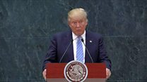 Trump softens his message on Mexico visit