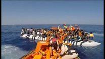 「国にいたら死んでいた」 リビア沖から3日で1万人救助