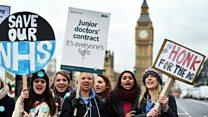 Is the BMA split over junior doctors strike?