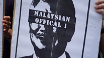 """Protesters demand the arrest of """"Malaysian Official No.1"""""""