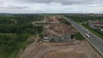 Drone flypast shows major M8 works