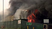 West Belfast waste plant fire 'could burn for 24 hours'