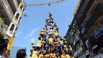 ভারতে 'মানব পিরামড' তৈরিতে শিশুরা নিষিদ্ধ